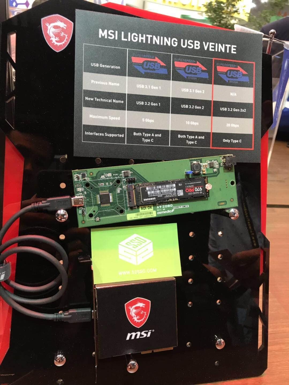 全球首款!微星发布USB3.2 Gen2X2设备 搭载祥硕主控